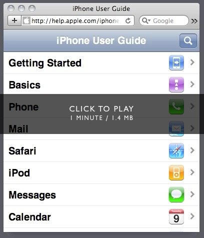 Daring Fireball: PastryKit / iPhone User Guide Demos